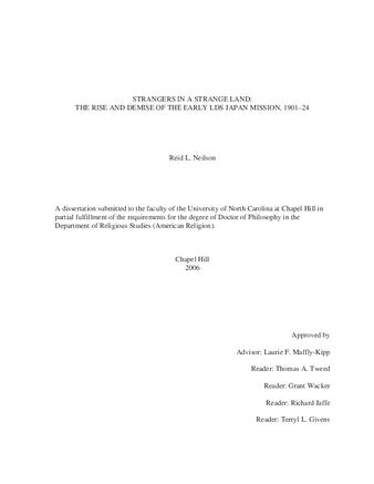 Dissertation or Thesis | Strangers in a strange land: the