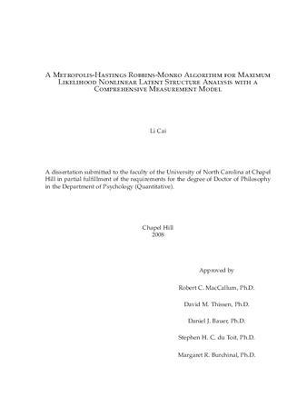 Dissertation or Thesis   A Metropolis-Hastings Robbins-Monro